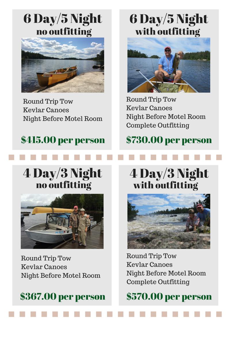 free canoe rental to lac la croix